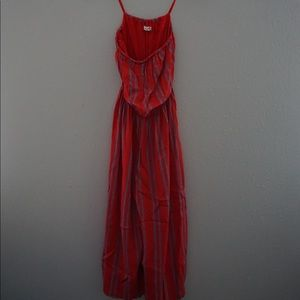 Urban Outfitters Red Jumpsuit